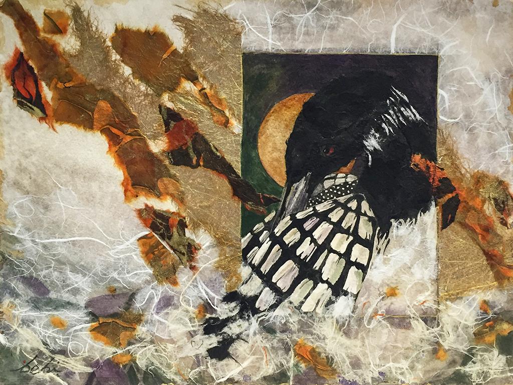 Beki Killorin Original Watercolor - Autumn Loon