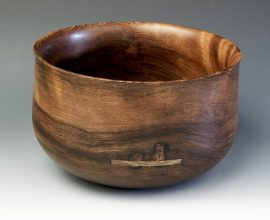 Jerry Kermode - Redwood Traditional Calabash Bowl