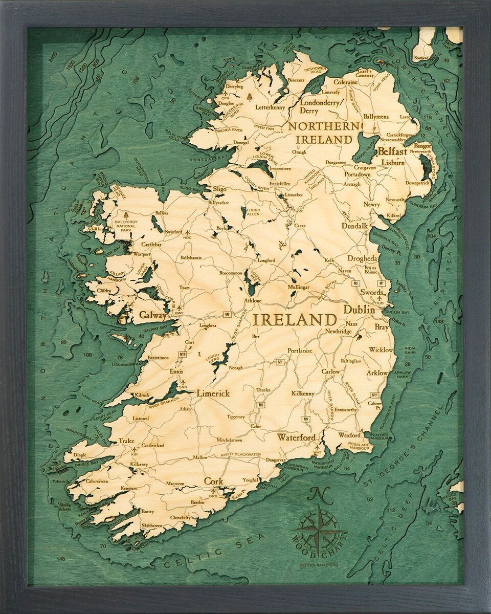 Bathymetric Map Ireland