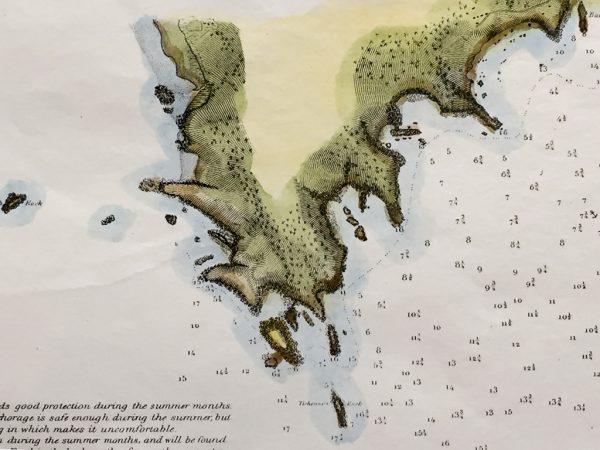 U.S. Coast Survey Map Western Coast of the United States (1854)