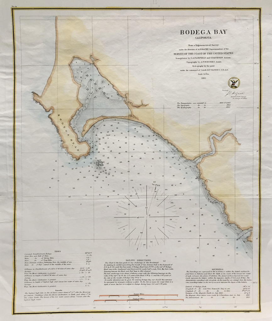 U.S. Coast Survey Map Bodega Bay California (1862)