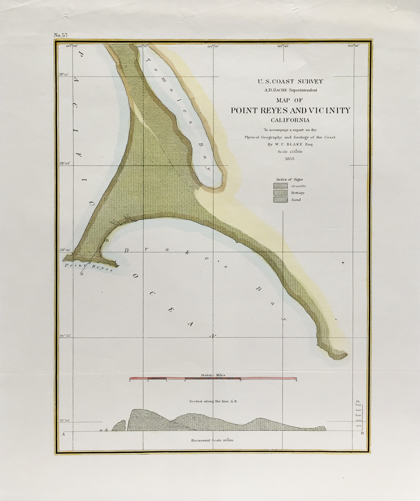 U.S. Coast Survey Map Point Reyes (1855)