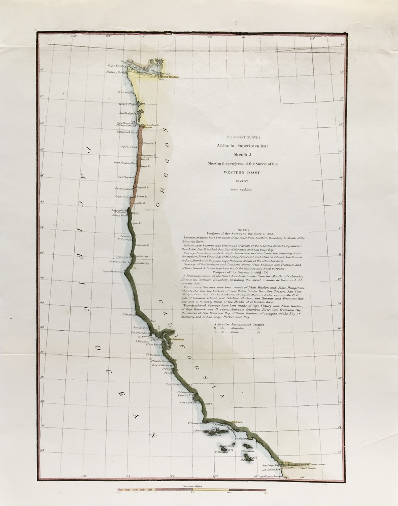 U.S. Coast Survey Map Coast of California (1852)