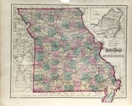 Antique Map - Missouri State Map (1872)