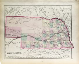 Antique Map - Nebraska State Map (1876)