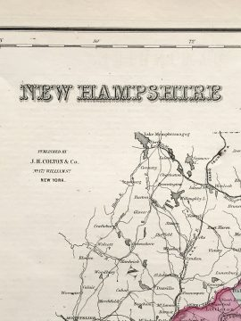Antique Map - New Hampshire State Map (1855)