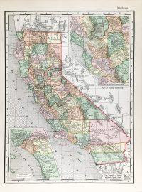 Antique Map - California State Map (c.1895)