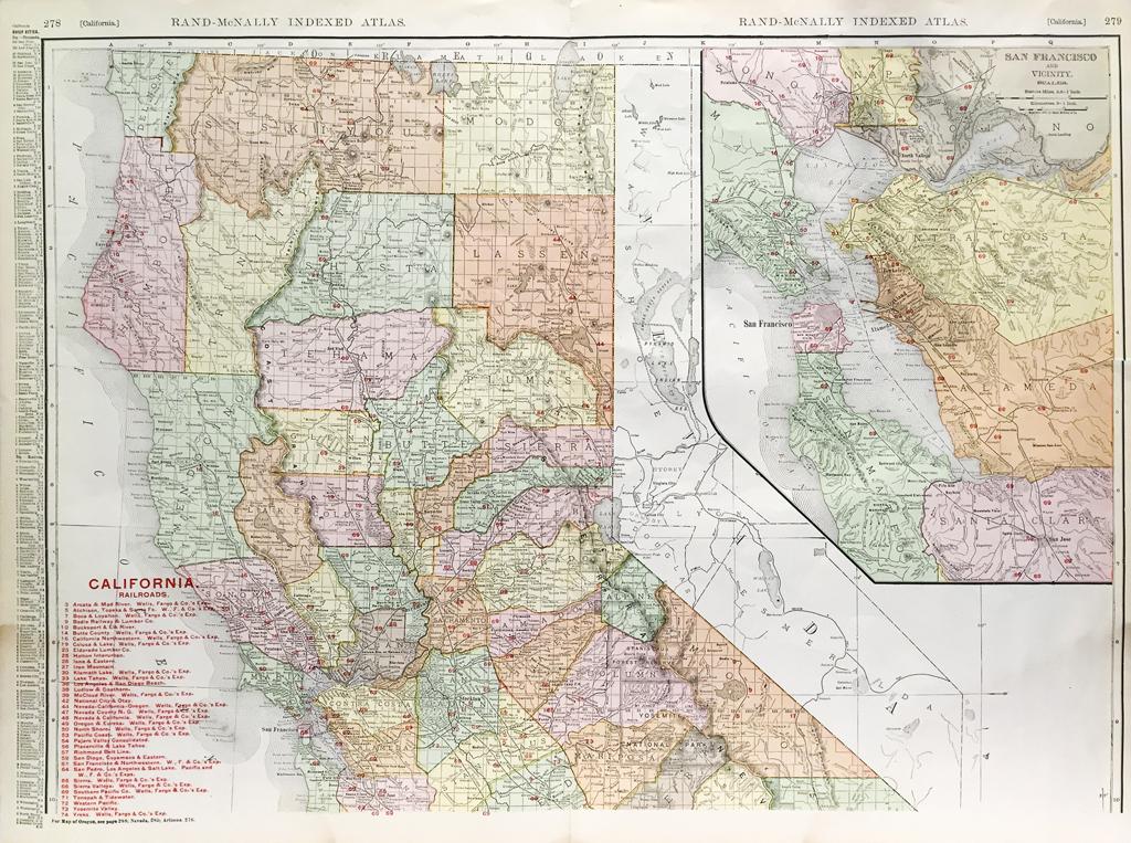 California State Railroad Map (c.1907)