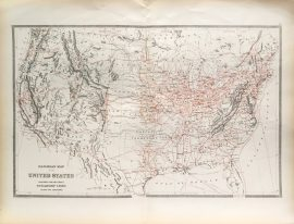 Antique Map - United States Railroad Map (1884)