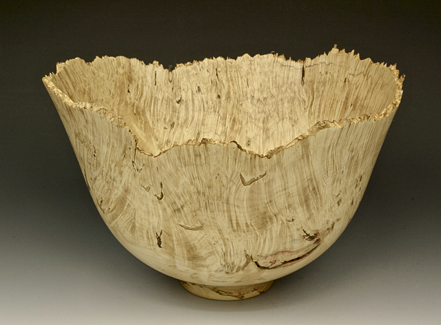 Jerry Kermode - Silver Maple Natural Edge Bowl Spalted with Included Knots