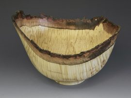 Jerry Kermode - Silver Maple Natural Edge Bowl Burl with Bark and Lichen