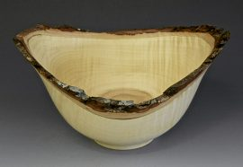 Jerry Kermode - Silver Maple Natural Edge Bowl Burl with Bark