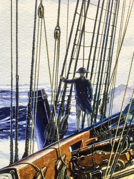 Geoff Hunt Print - Post Captain