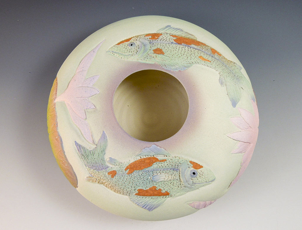Nancy Adams - Two Koi Bowl