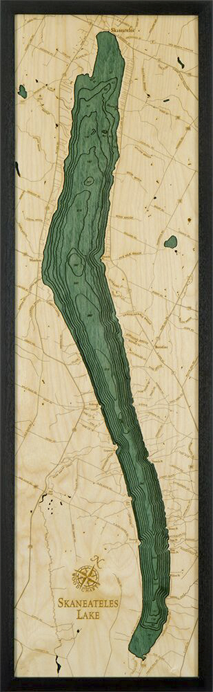 Bathymetric Map Lake Skaneateles, New York