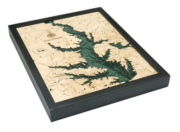Bathymetric Map Lake Conroe, Texas