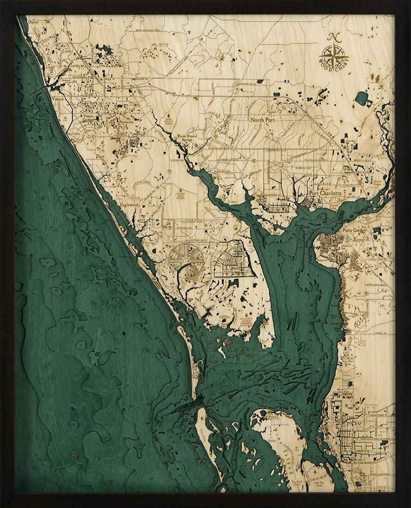 Bathymetric Map Charlotte Harbor