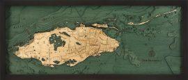 Bathymetric Map Nassau, Bahamas