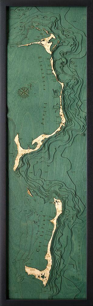 Bathymetric Map Eluthera, Bahamas