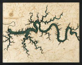 Bathymetric Map Lake Cumberland, Kentucky