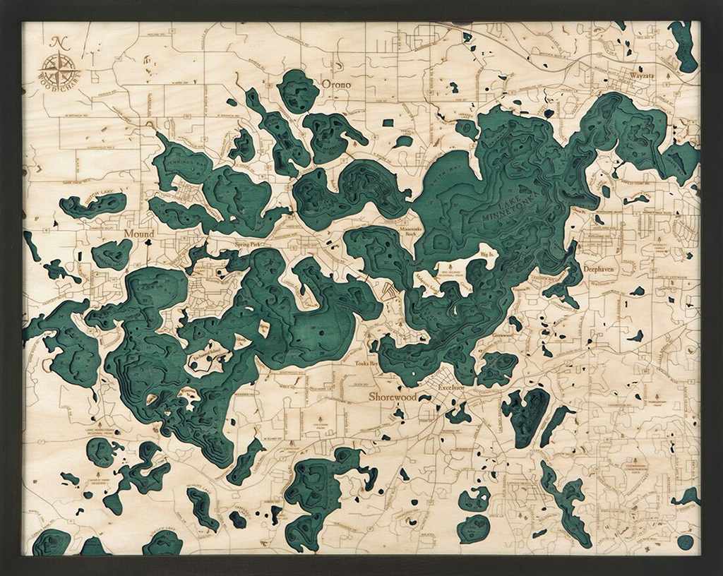 Bathymetric Map Lake Minnetonka, Minnesota