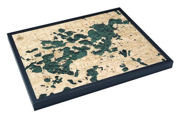 Bathymetric Map Lake Minnetonka, Minnesota