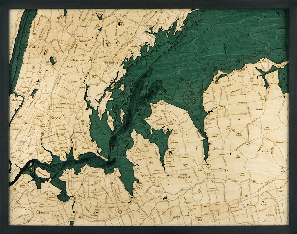 Bathymetric Map West Long Island Sound, New York