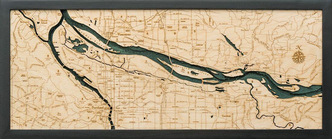 Bathymetric Map Portland, Oregon