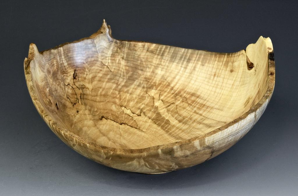 Jerry Kermode - Silver Maple Natural Edge Bowl