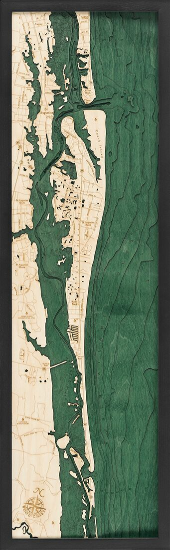 Bathymetric Map St. Augustine, Florida