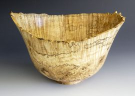 Jerry Kermode - Silver Maple Natural Edge Bowl