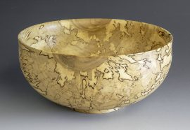 Jerry Kermode - Silver Maple Traditional Edge Bowl with Spalting