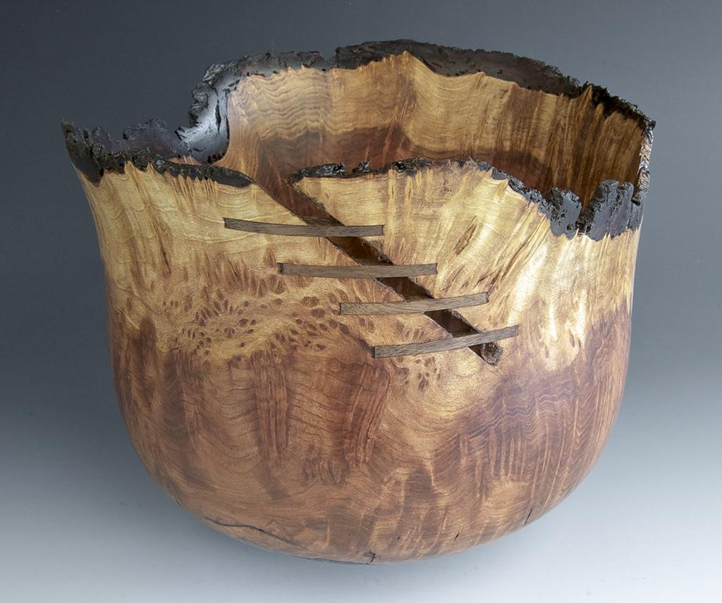 Jerry Kermode - Redwood Burl Natural Edge Bowl with Calabash Burl