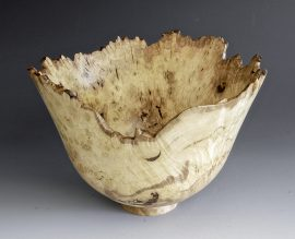 Jerry Kermode - Silver Maple Natural Edge Bowl Spalted Burl