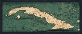 Bathymetric Map Cuba