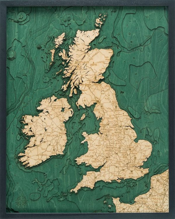 Bathymetric Map United Kingdom