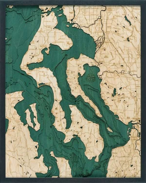 Bathymetric Map Whidbey and Camano Islands