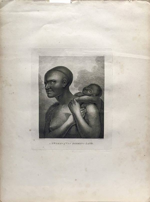 Cook Engraving - A Woman of Van Dieman's Land