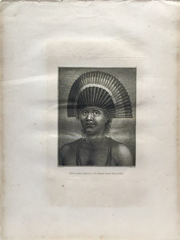 Cook Engraving - Poulaho - King of the Friendly Islands