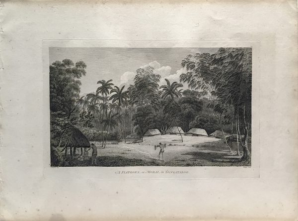 Cook Engraving - A Flatooka or Morai in Tongataboo