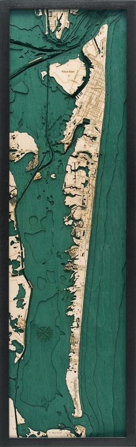 Bathymetric Map Galveston, Texas