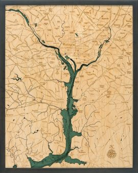 Bathymetric Map Washington D.C.