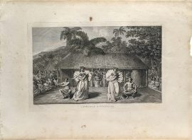 Cook Engraving - A Dance in Otaheite