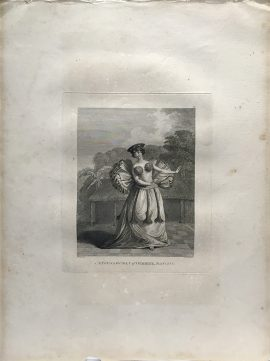 Cook Engraving - A Young Woman of Otaheite Dancing