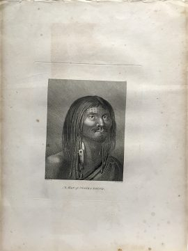 Cook Engraving - A Man of Nootka Sound