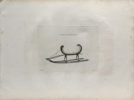 Cook Engraving - A Sledge of Kamtschataka