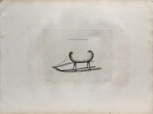 Cook Engraving - A Sledge of Kamtschataka