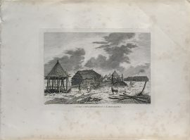 Cook Engraving - A View of Bolcheretzkoi in Kamtschataka