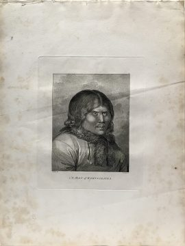 Cook Engraving - A Man of Kamtschataka