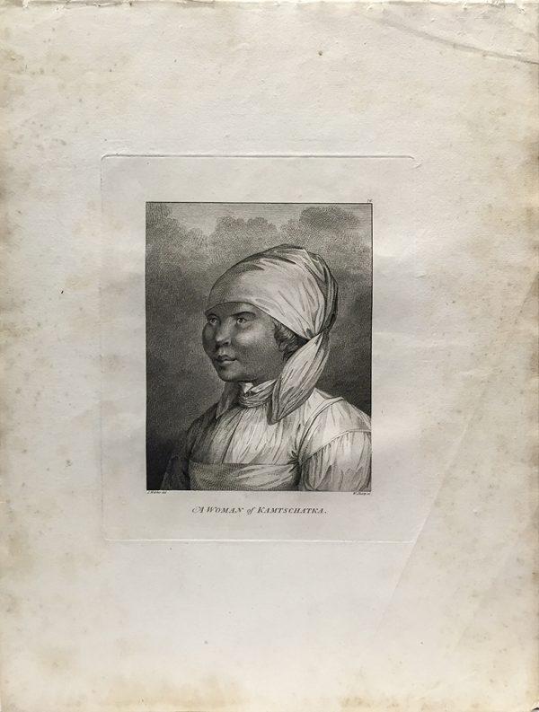 Cook Engraving - A Woman of Kamtschataka